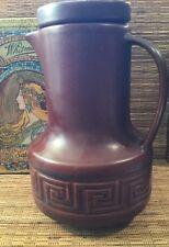 Vintage Retro Collectable Doulton Aust. Grecian Stoneware Lidded Coffee Pot Jug