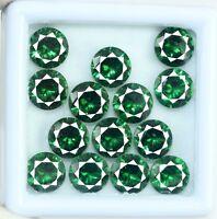 AGSL Certified Green Garnet Loose Gemstone Lot 25 Ct/8mm Natural Round 14 Pcs
