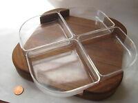 vtg Selandia Designs Danish modern Teak wood BOWL SET plate Mid Century Denmark