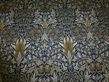 2.7m - MORRIS & CO - William Morris - Snakeshead - Indigo/Hemp - Linen Fabric