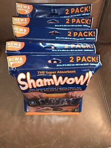 New And Improved Shamwow 2-Pack NEW - Holds 10X Weight - Buy up to 5 to save $$