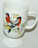 Vintage bird scene Coffee tea Mug Japan 8 oz