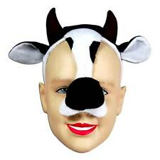 Cow Mask on Headband & Sound,    MASQUERADE EYE MASK, ANIMAL, FANCY DRESS #AU