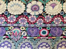 New! Fall 2021 Kaffe Fassett Embroidered Flower Border Gp185 Contrast Fabric Hy