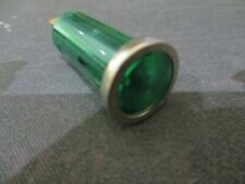 12 VOLT 12MM GREEN WARNING LIGHT WITH CHROME BEZEL, CAMPER, MOTOR HOME,  CAR