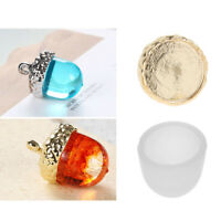 Clear 3D Acorn Silicone Pendant Mold DIY Resin Epoxy Mould Jewelry Bead Cap