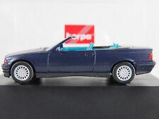 Herpa 100571 BMW 325i Cabrio (1993-1996) in blaumetallic 1:87/H0 NEU/OVP/PC