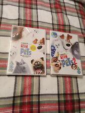 The Secret Life of Pets 1 and 2 dvd New sealed bundle lot x2 joblot