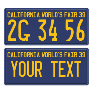 1 x Custom Personalized 1939 California License Plate with YOUR TEXT