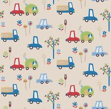 Erismann voiture Imprimer Enfants Papier Peint Voitures Camions arbres véhicules Kids Beige