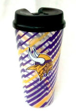 Minnesota Vikings 32-Ounce Travel Mug, Lightning Design