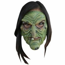 *Adults Green Wicked Witch Moving Mouth Latex Horror Halloween Scary Face Mask*