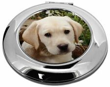 Yellow Labrador Puppy Make-Up Round Compact Mirror Christmas Gift, AD-L70CMR