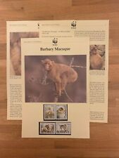 ALGERIA 1988 PAGES x 4 WWF BARBARY MACAQUE MONKEY APE