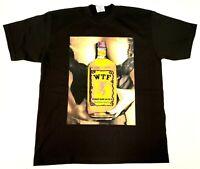 WTF T-shirt Fireball Made Me Do It Urban Streetwear Adult Mens Tee New