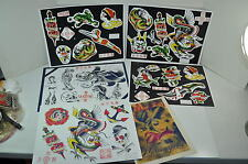 MPLS Murderapolis lady Dragons Tattoo Color Flash Wall Art LOT 6 Sheets Jon boy