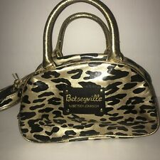 Betseyville By Betsey Johnson Gold And Black Leopard Print Makeup Bags