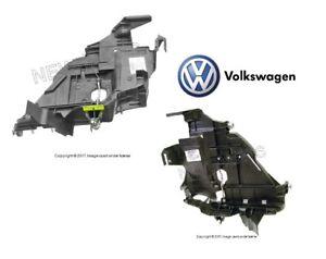For VW Touareg 04-07 Headlight Mounting Plates Pair Set of Right & Left Genuine