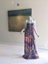 NWT $2850 MATTHEW WILLIAMSON BOHO CHIC SILK PAISLEY FLORAL DRESS UK 8 US 4