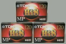 New listing Lot of 3 Tdk Hi8 Mp 120 Minute Camcorder Video Tapes * Made in Japan