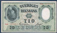 SUEDE - 10 KRONOR Pick n°40 e. de 1944. en SPL  16178214