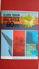 Malaysia 2013 Angkatan Tentera Army 80th Anniversary Nordic Gold Coin Card