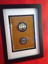 Framed - Professional Golfers Association of America - TWO Medallion Set