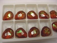 4 swarovski crystal rock pendants(top drilled)23mm crystal copper #6190