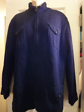 Claiborne for Men Cotton Sherpa Sweater Jacket  M  VERY WARM!