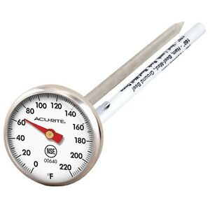 ACU-RITE 732 STAINLESS STEEL INSTANT READ MEAT PROBE THERMOMETER BBQ SMOKER OVEN