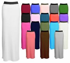 No Pattern Casual Maxi Skirts Plus Size for Women