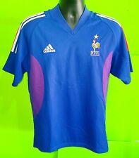 Vintage Adidas Men's XL FFF France National Team ClimaLite Soccer Jersey ~Blue~