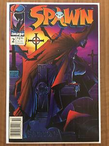 Spawn #2 Newsstand UPC Variant Image 1992 Todd McFarlane 1st App Violator VG+