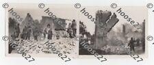 2 Fotos Farschweiler Pfalz Häuserabriss Uniformierte ca 1940 9x6cm 2.WK orig.