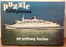 Ferry Ship Puzzle Prince of Brittany 500 piece vtg jigsaw RARE Complete Obscure