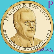 2014-P FRANKLIN ROOSEVELT PRESIDENTIAL GOLDEN DOLLAR FROM MINT ROLL UNCIRCULATED