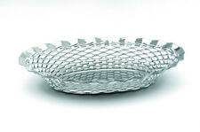 More details for naan basket poppadom bread roti stainless steel serving oval round hot towel