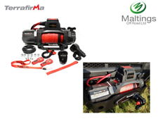 Terrafirma winch synthetic rope & 2 wireless remotes M12.5S 12v electric TF3320