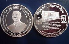 Medalla 150 Años JOSE CELSO BARBOSA Puerto Rico BAYAMON 2007 PLATA 1/200 SILVER