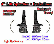 """4"""" inch Lift Spindles fits 2003 - 2015 Toyota 4Runner 2007 - 2014 FJ Cruiser 2WD"""