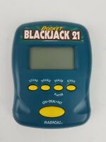 Radica 1997 Pocket Blackjack 21 Handheld Electronic Travel Game Free Shipping