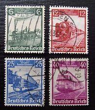 Imperio alemán 580-583, 100 años de ferrocarriles alemana, con sello