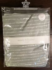 Wendy Bellissimo grey and white Crib Skirt 16""