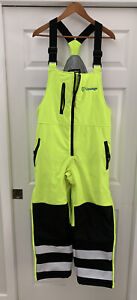 RefrigiWear Mens High Visibility Reflective Insulated Softshell Bib Overall M
