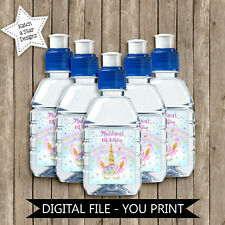 MAGICAL RAINBOW UNICORN BIRTHDAY PARTY PERSONALISED DIGITAL POPTOP DRINK LABELS