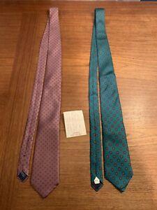 Mens Neck Tie Lot All Silk New York Milano & Carriage Club