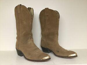 VTG Women's Laredo All Leather Tan Cowboy Boots 10M