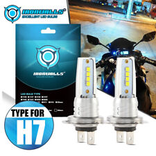 H7 Motorcycle LED Headlight Bulbs Kit High/Low Beam 100W 10000LM 6000K White HID