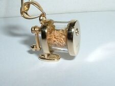 14K YELLOW GOLD MOVEABLE 3D PENCIL SHARPENER CHARM