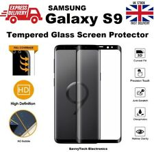 4D Rounded Edges Tempered Glass Screen Protector For Samsung Galaxy S9 - Black